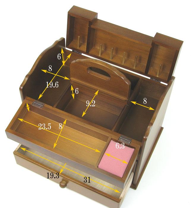 木製 ソーイングボックス 大容量 裁縫箱 スウィートマリッジ 日本製 G-578B 【あす楽対応】