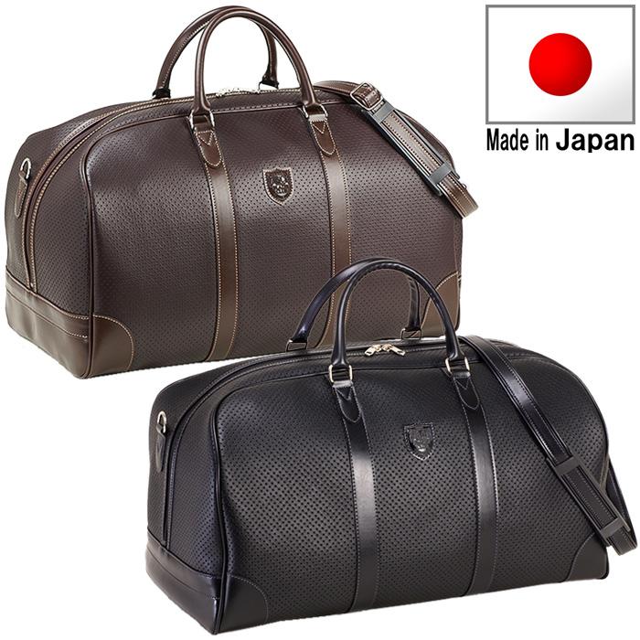 BLAZERCLUB ボストンバッグ 旅行かばん 旅行用バッグ トラベルバッグ メンズ 48cm 10405 ブラック ブラウンブレザークラブ 送料無料 日本製 豊岡