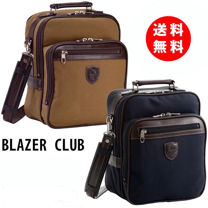 ブレザークラブ ショルダーバッグ メンズ 帆布 PVC白化コーティング 撥水 布製 おしゃれ A5 縦型 21cm 2way 送料無料 16350 日本製 豊岡 平野鞄