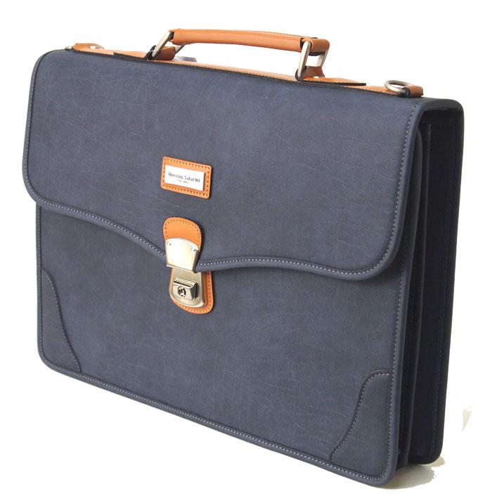 送料無料 バレンチノ・サバティーニ ビジネスバッグ持ち手付 人工皮革 B4ファイル 39cm幅 ショルダーベルト付 ネイビー 日本製【あす楽対応】