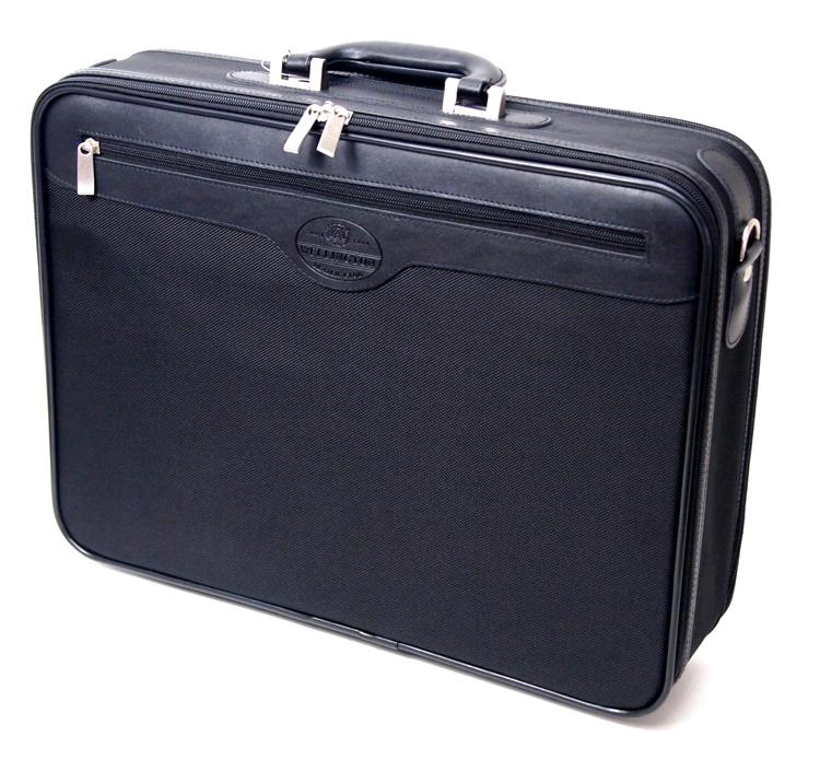 ウェリントン ソフトアタッシュケース ビジネスバッグ 45cm幅 A3対応 21219 クロ 撥水加工【あす楽対応】
