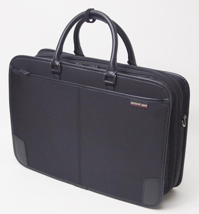 GERMANE GEAR ビジネスバッグ ジャーメインギア 軽量 ワイドなアウトポケット付 フチ巻 26573 Wマチ仕様 45幅 平野鞄【あす楽対応】