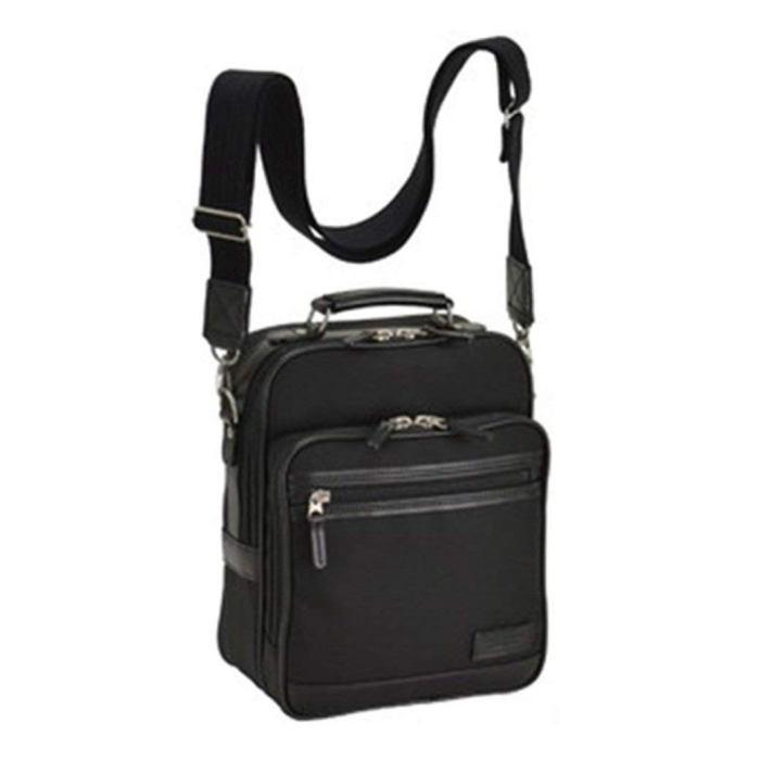 送料無料 ショルダーバッグ メンズ 斜めがけ A5 2way ビジネスバッグ 通勤バッグ 軽量 ナイロン 黒 ブラック 33704日本製 豊岡製鞄