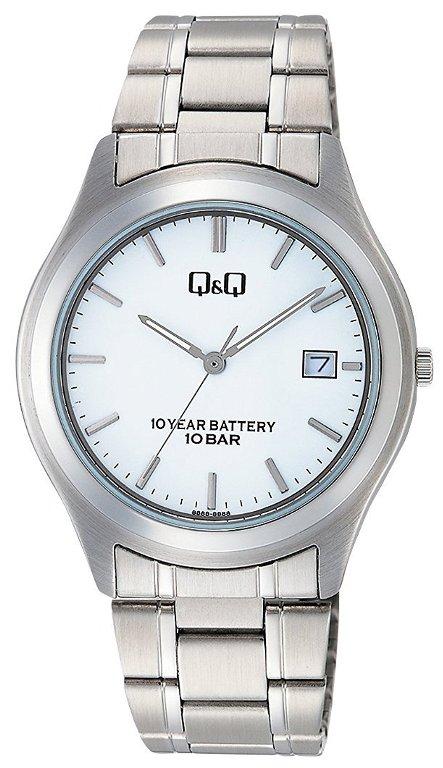 【メール便 】シチズン CITIZEN Q&Q 腕時計 センティニ ステンレス 10気圧防水 蓄光付き針 アナログ ホワイト W476-201 メンズ