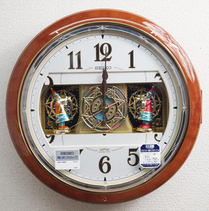セイコー からくり時計 掛け時計 ウエーブシンフォニー 電波時計 RE559H 【動画あり】送料無料