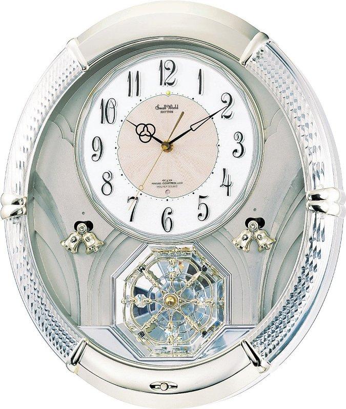【動画あり】送料無料 シチズン電波掛時計 パルミューズルミエル スワロフスキー回転飾り 6曲メロディ 4MN430RH18