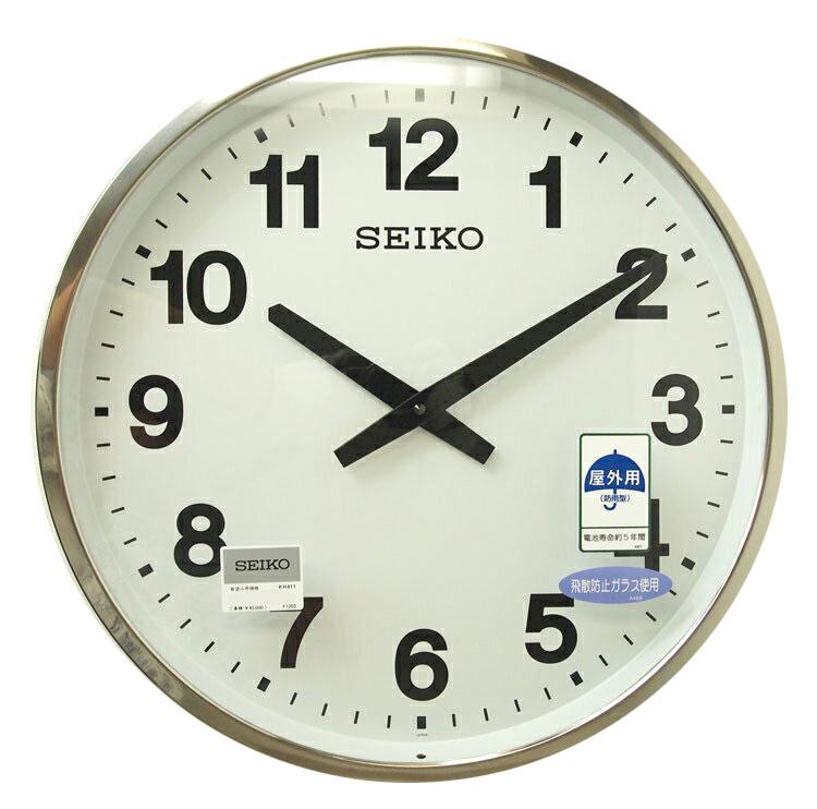 セイコー オフィスクロック 超大型 掛け時計 直径45cm 屋外 防雨 ステンレス 業務用 密閉式の枠 KH411S 送料無料 【取り寄せ品】