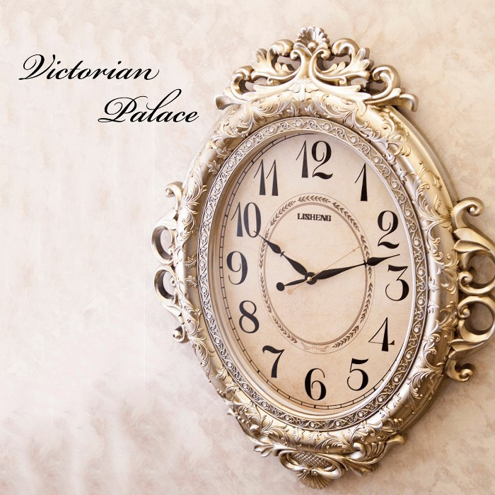掛け時計 ビクトリアンパレス ネグレスコ 大型 55cm 連続秒針 LS-8209L 乾電池付 送料無料 壁掛け時計