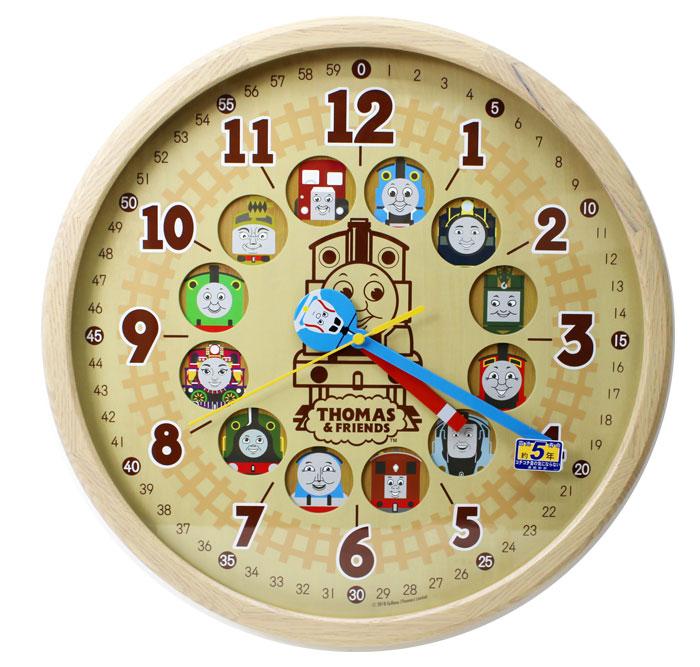 セイコー SEIKO 電波掛け時計 きかんしゃトーマス CQ221B トーマス&フレンズ 大型 木枠 送料無料