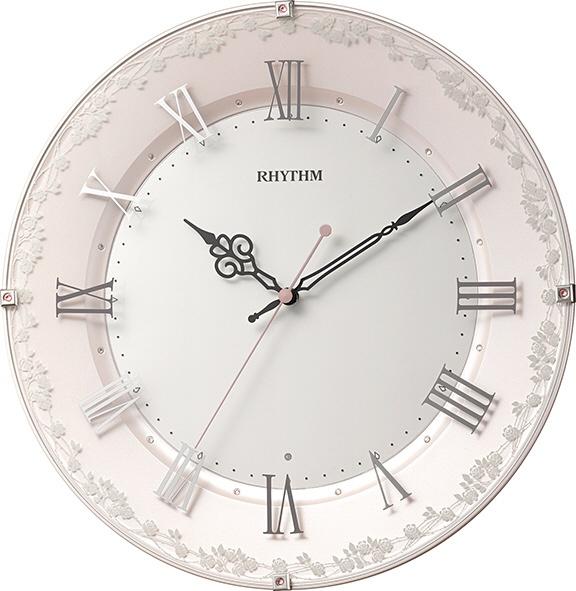 リズム時計 RHYTHM 電波掛け時計 「アラカルト538」 8MY538SR13