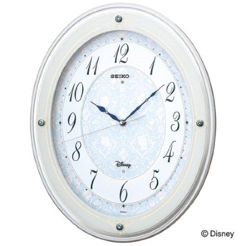 セイコー 大人ディズニー ディズニープリンセス 電波掛け時計 ディズニーハイライン FS502W メロディ付き 連続秒針 スワロフスキー・エレメント SEIKO 送料無料