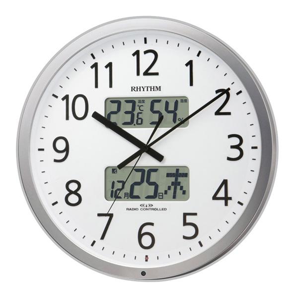 送料無料 リズム時計 オフィスタイプ プログラムカレンダー403R 大型 掛け時計 4FN403SR19【あす楽対応】