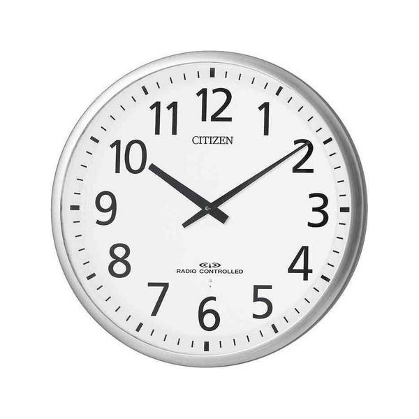 送料無料 リズム時計 高感度電波オフィス掛時計 スリーウェイブM821 4MY821-019