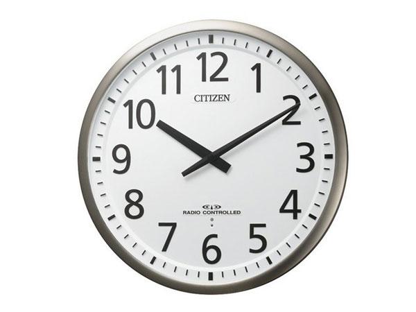 送料無料 リズム時計 高感度電波大型掛時計 スリーウェイブM839 ステンレス枠/シルバー色 4MY839-019