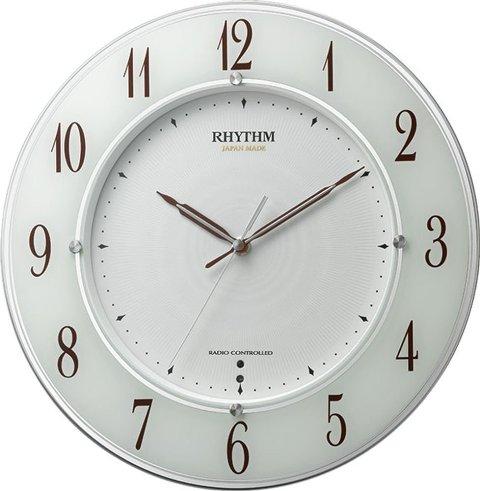 送料無料 RHYTHM(リズム時計) 【日本製】《高感度電波時計》 スリーウェイブ M847 白半艶仕上げ(白文字盤) 4MY847SR03