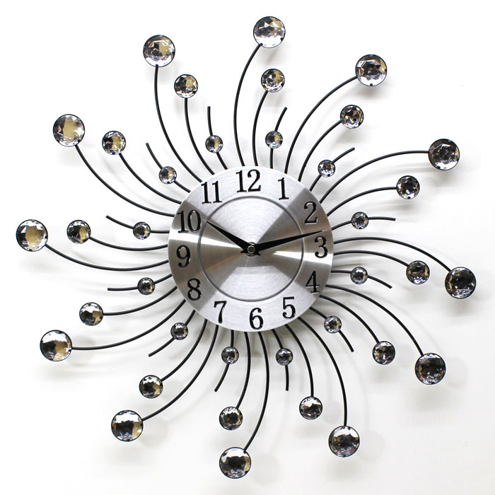 購入 オシャレな壁掛け時計 太陽のイメージ 部屋をオシャレに演出 送料無料 内祝い 掛け時計 デザインウォールクロック クリア サン あす楽対応 YGZ-735 乾電池付