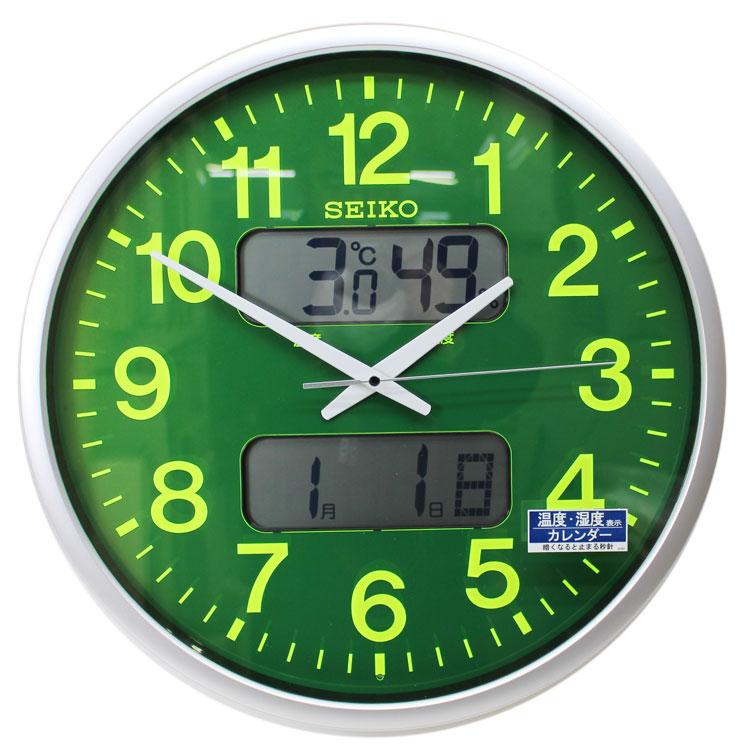 送料無料★SEIKO セイコークロック 大型掛け時計 壁掛け 電波時計 KX237H 緑【あす楽対応】