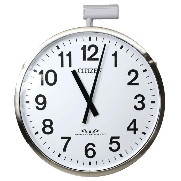 リズム時計 屋外用掛け時計 パルウェーブM611B 大型 防水飛散防止 送料無料 4MY611-B19