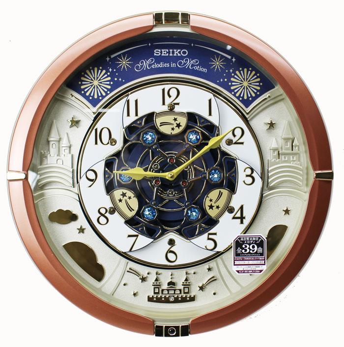 0fb03e42df 文字板が回転 華やかなパフォーマンス!からくり時計 セイコー からくり時計 掛け時計 メロディ全 ...