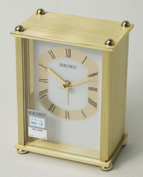 セイコークロック 置き時計  スタンダード目覚まし時計 QK733G 【取り寄せ品】