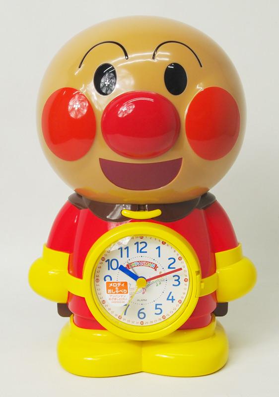 リズム時計 アンパンマンめざましとけい 音声目覚まし時計 おしゃべり 4SE552-M06