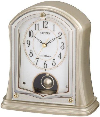 シチズン/リズム時計 置時計 パルドリームR693金メタリック4RY693-018アナログ
