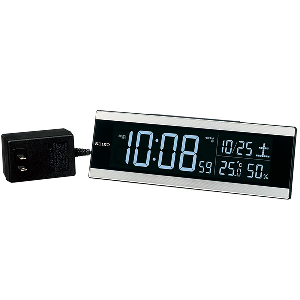送料無料 SEIKO セイコークロック 目覚まし時計 置き時計 電波時計 DL306S【あす楽対応】【動画あり】