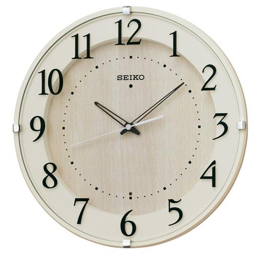セイコークロック 電波掛け時計 スタンダード ナチュラルスタイル(アイボリー塗装) KX397A【あす楽対応】