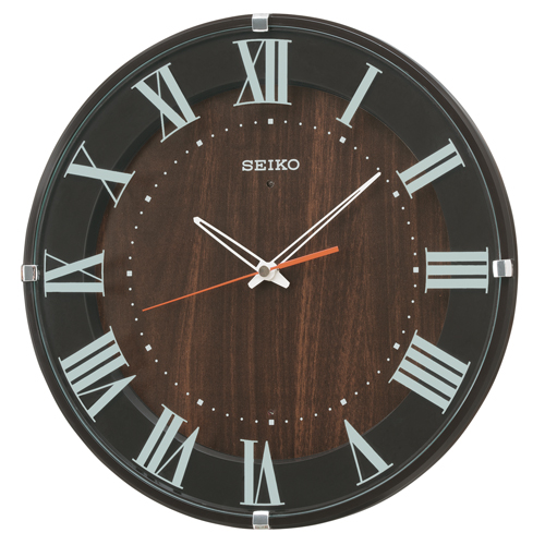 セイコークロック 電波掛け時計 スタンダード ナチュラルスタイル(濃茶塗装) KX397B【あす楽対応】