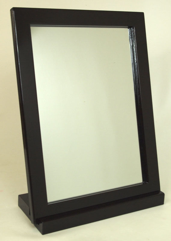 Charming 2 Way Desktop Mirror ☆ Large Tabletop Mirror ☆ Shiny Paint ☆ Brown  02P06May15
