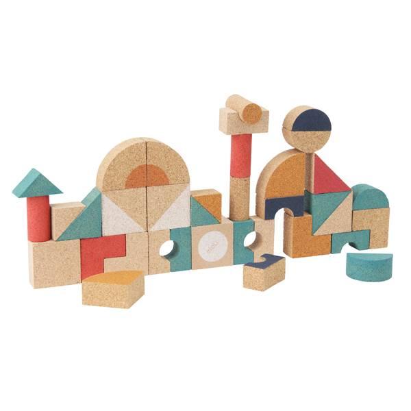 コルク 積み木 エロウ elou シェイプス36ピース おもちゃ 知育玩具 2歳 3歳 4歳 誕生日プレゼント クリスマスプレゼント