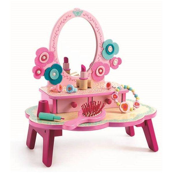 DJECO ジェコ ままごと ドレッサー フローラドレッシングテーブル 4歳 5歳 6歳 女の子 誕生日プレゼント