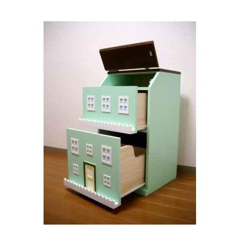 タウンチェスト3番地 グリーン 収納 家具 子供部屋 インテリア 日本製