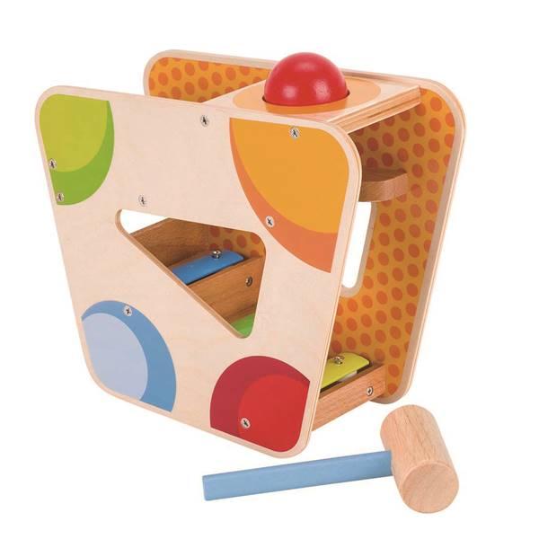 ハンマーゲーム ウィズ シロフォントラック goki ゴキ トンカチ 玉転がし 玉落とし 木のおもちゃ