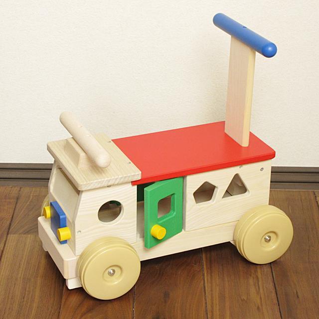 カラフルバス 赤ちゃん 手押し車 出産祝い おもちゃ 乗用玩具 出産祝 1歳 2歳 木のおもちゃ 誕生日プレゼント
