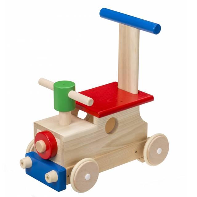 カラフルロコ 出産祝い 汽車 手押し車 乗用玩具 赤ちゃん 1歳 2歳 誕生日 プレゼント