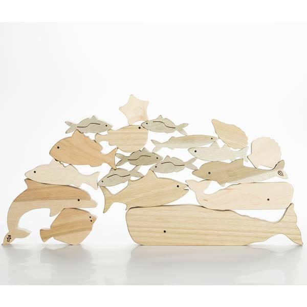 海のいきものつみき オークヴィレッジ 日本製 木のおもちゃ