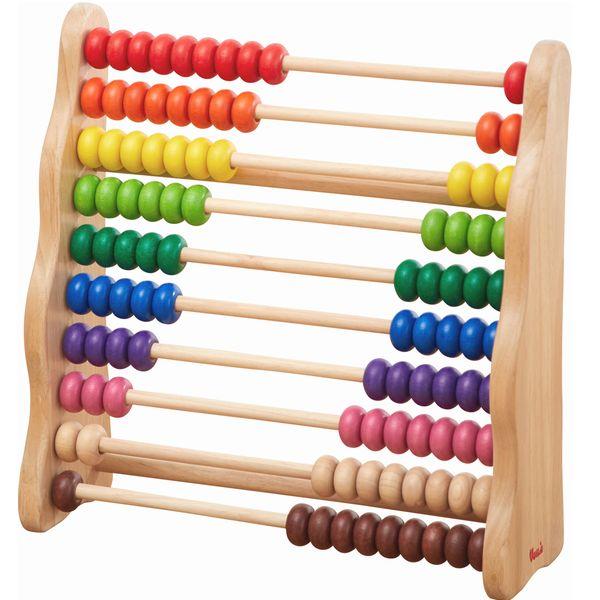 レインボーアバカス 百玉 そろばん 数字 知育玩具 3歳 4歳 木のおもちゃ