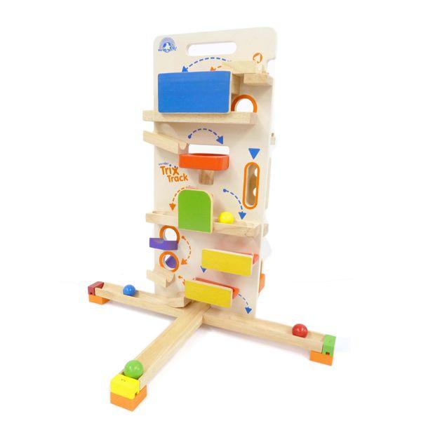 トリックストラック タワーラウンチャー 玉転がし スロープ 木のおもちゃ 3歳 4歳 5歳 誕生日 プレゼント