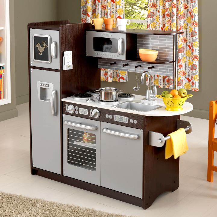 【たくさんの機能が付いたシステムキッチン/CEマーク付】KidKraft アップタウン エスプレッソキッチン おもちゃ ままごと おままごと ままごとキッチン rvw