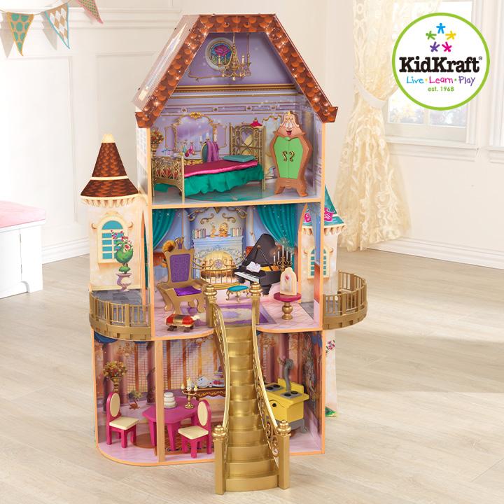 【割引クーポン配布中】【CEマーク認定/家具のおもちゃ13点付き】 KidKraft プリンセスベルのファンタジードールハウス ミニチュアハウス ドールハウス 高さ120cm 人形遊び 家具付き 三階建て ドールハウスセット 木製 こども 子ども おもちゃ オモチャ