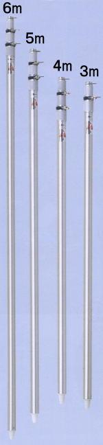 旗用伸縮式アルミポール 4m 【あす楽対応】