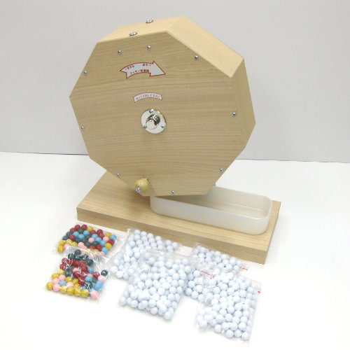 木製抽選器(ガラポン・ガラガラ)1000球用 抽選玉500球付き 【あす楽対応】