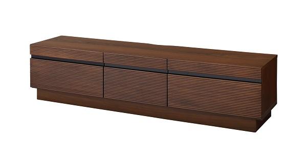 無垢材 天然木 アルダー テレビボード 幅166.2cm 奥行41.5cm 高さ40cm 天然木人工突板(ウォルナット調)