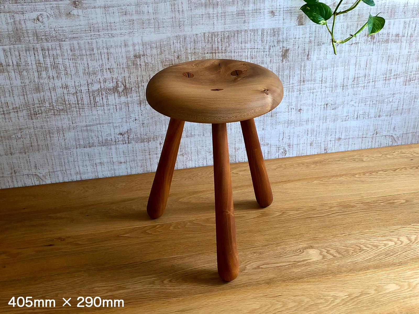 クラゲスツール/ニレ ST-2 高さ405mm /幅290mm 無垢材 木製 木 チェア スツール 椅子 おしゃれ