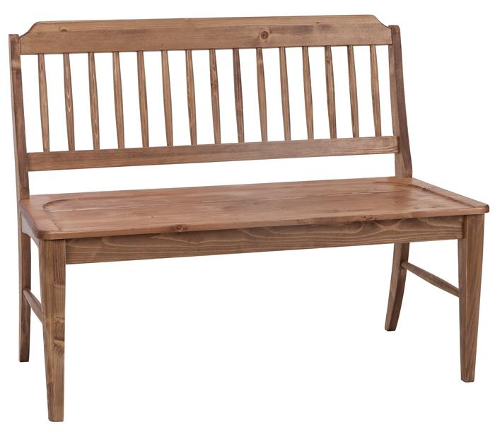 ベンチ 木製 ガーデンベンチ 背もたれ付き 幅104cm ウッドベンチ 無垢材 長椅子 ダイニングベンチ ロースタイル オイル塗装 木 腰かけ 腰掛け レトロ カントリー モダン ナチュラル パイン 05P06Aug16