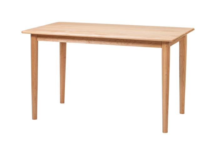 ダイニングテーブル テーブル 120cm 4人用 無垢材 食卓 机 ナチュラル シンプル カジュアル 木製 木製家具 木 カフェ風 モダン レトロ 会議用テーブル 家族 新生活 無地 木目 アルダー 05P06Aug16