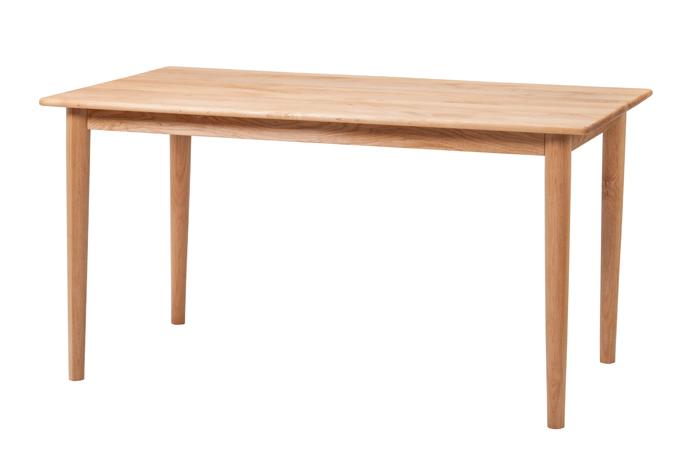 ダイニングテーブル 135cm テーブル 無垢材 食卓 机 ナチュラル シンプル カジュアル 木製 木製家具 木 カフェ風 モダン レトロ 会議用テーブル 作業机 家族 新生活 かわいい おしゃれ クール 無地 木目 アルダー 05P06Aug16