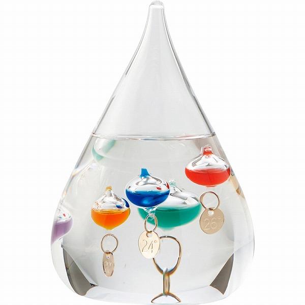 気温によって上下するガラスの球体が気温を示す おしゃれな温度計 景品 現物 ガラスフロート温度計S 春の新作シューズ満載 333-203 プレゼント 2021 引き出物 お返し メーカー再生品 結婚内祝い