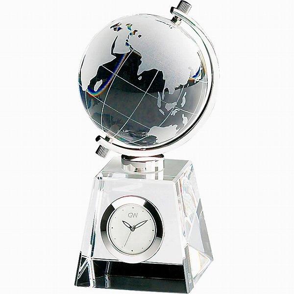 コンパクトで高級感あふれるデスククロック 景品 現物 グラスワークスナルミ グローブ 開催中 クロック プレゼント GW1000-11011 結婚内祝い お返し 引き出物 発売モデル 2021